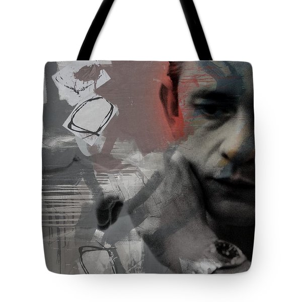 Johnny Cash - The Man Comes Around  Tote Bag