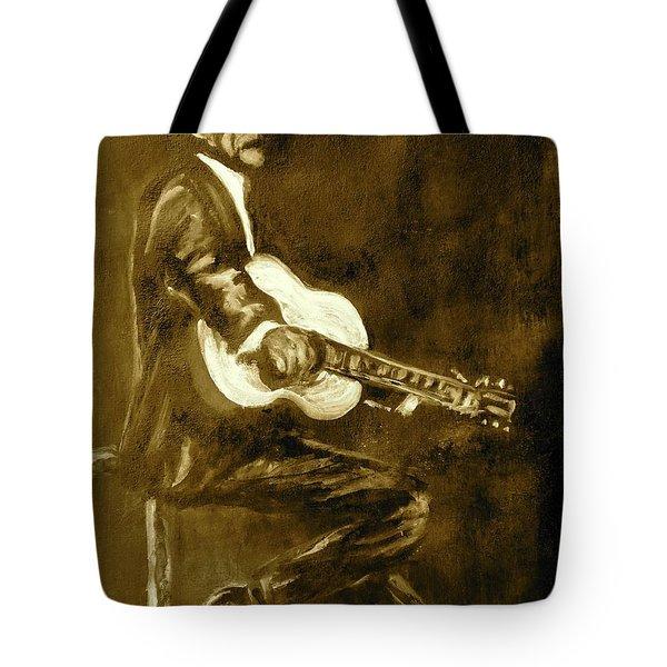 Johnny Cash V Tote Bag