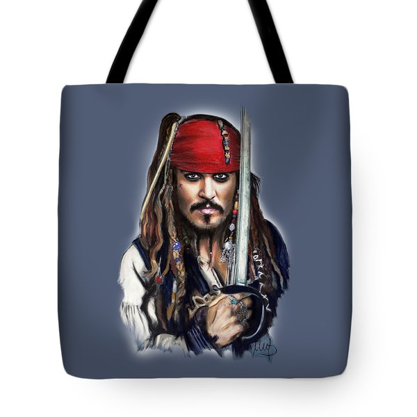 Johnny Depp As Jack Sparrow Tote Bag by Melanie D