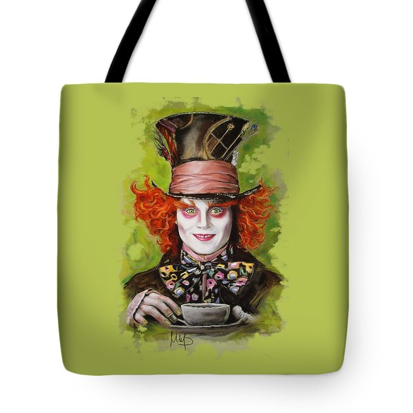 Johnny Depp As Mad Hatter Tote Bag by Melanie D
