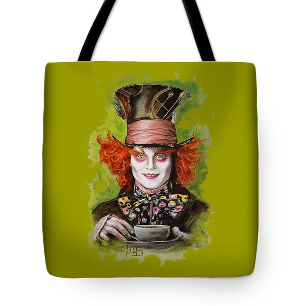 Johnny Depp As Mad Hatter Tote Bag