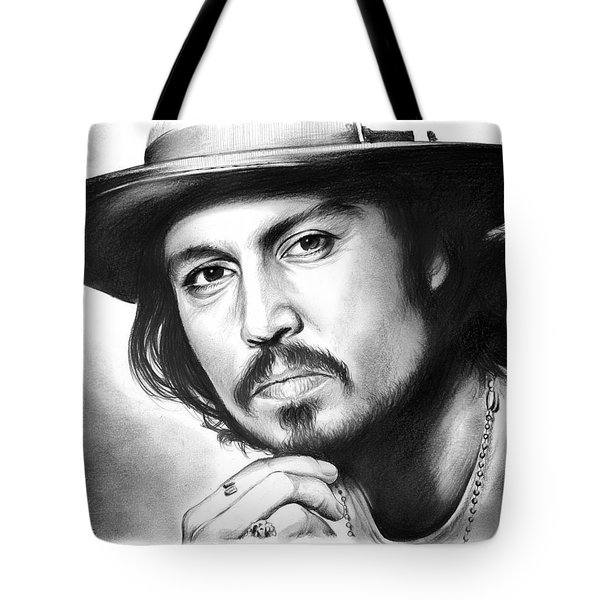 Johnny Depp Tote Bag by Greg Joens