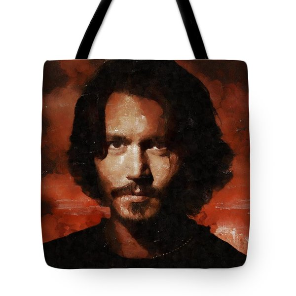 Johnny Depp, Hollywood Legend By Mary Bassett Tote Bag by Mary Bassett