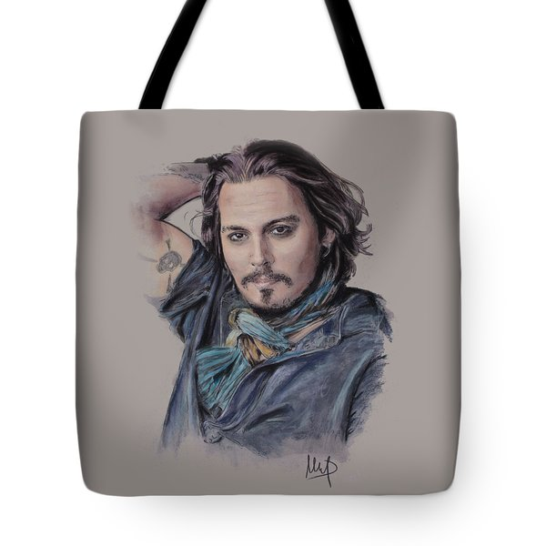 Johnny Depp Tote Bag by Melanie D