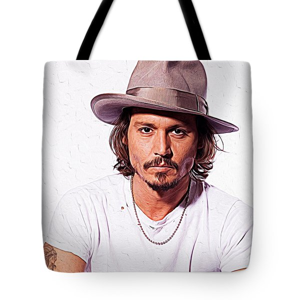 Johnny Depp Tote Bag by Iguanna Espinosa