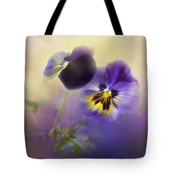 Tote Bag featuring the photograph Johnny Jump Up by Theresa Tahara