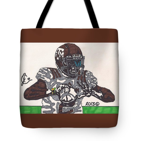 Johnny Manziel 12 Tote Bag by Jeremiah Colley