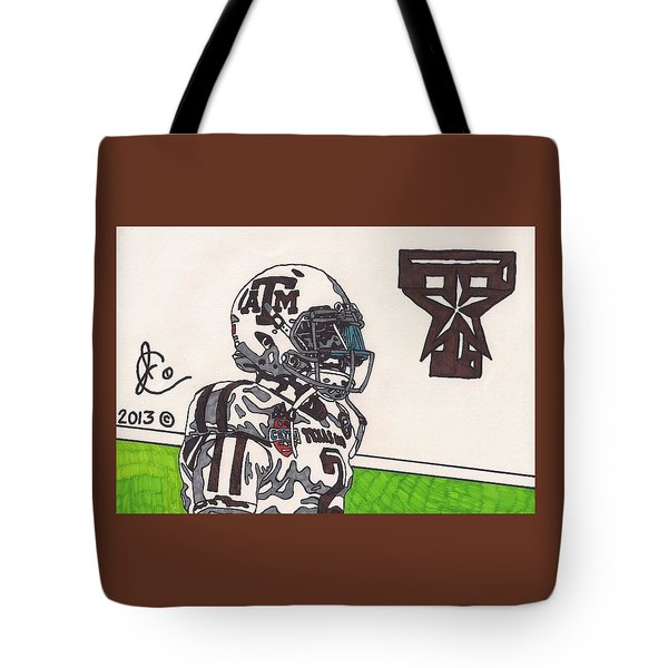 Johnny Manziel 13 Tote Bag by Jeremiah Colley