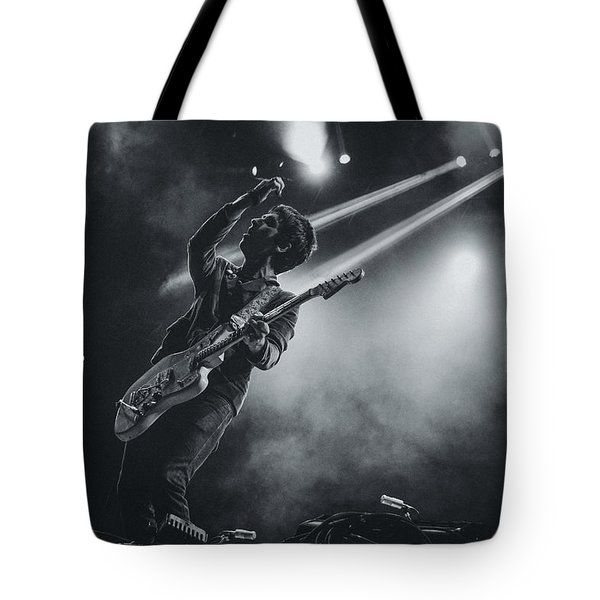 Johnny Marr Playing Live Tote Bag