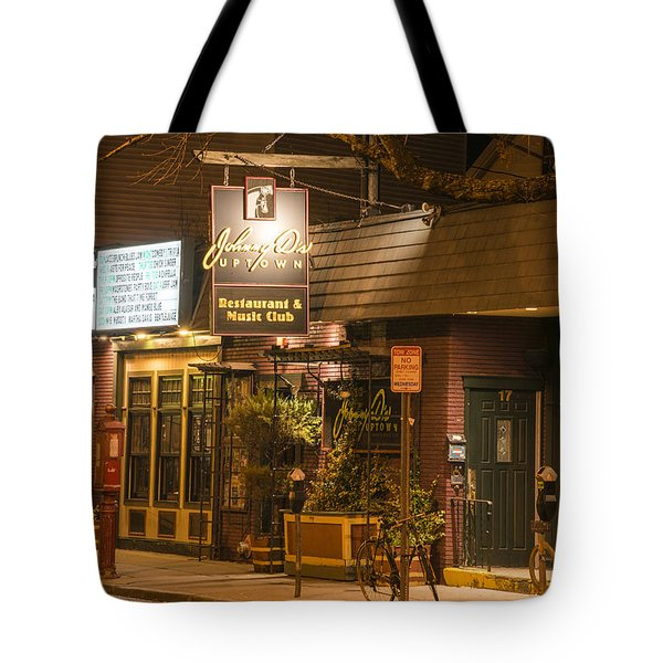 Johnny Ds Music Club In Davis Square Somerville Ma Tote Bag