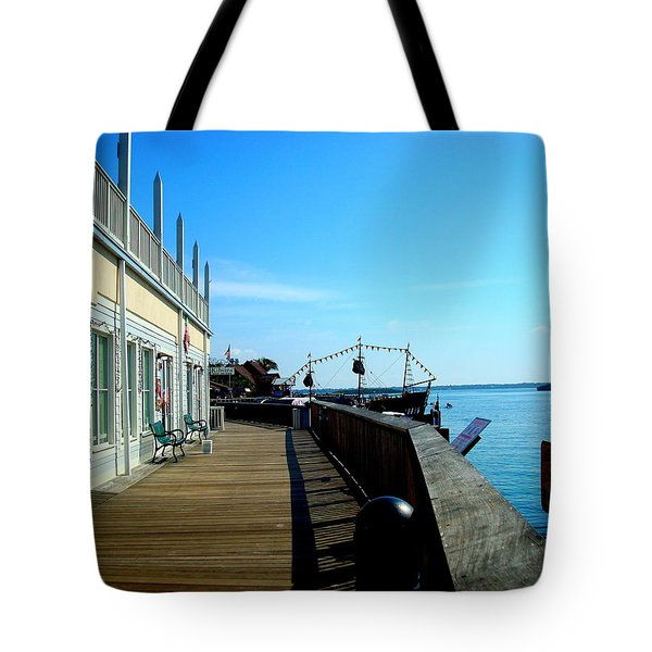 John's Pass View Tote Bag