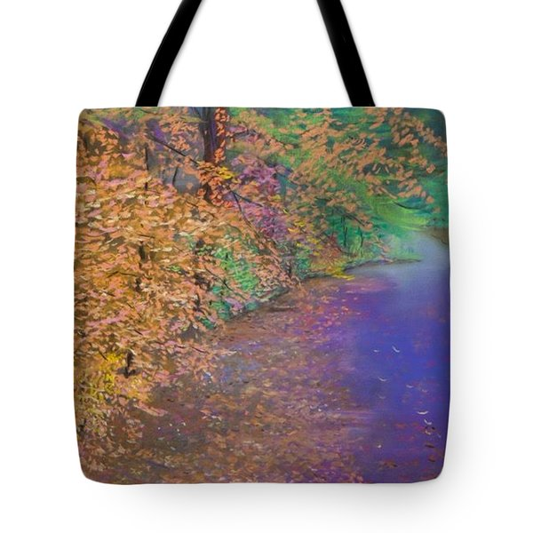 John's Pond In The Fall Tote Bag
