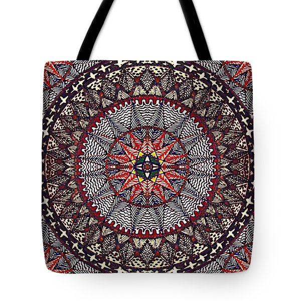 Tote Bag featuring the painting John's Star by Kym Nicolas