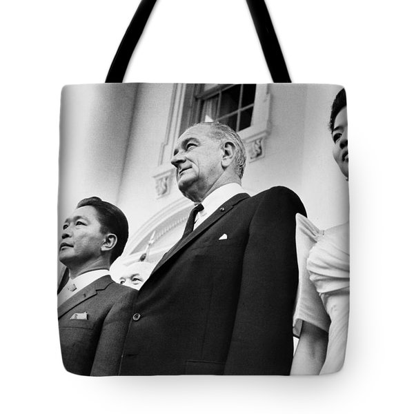 Johnson And Marcos, 1966 Tote Bag by Granger
