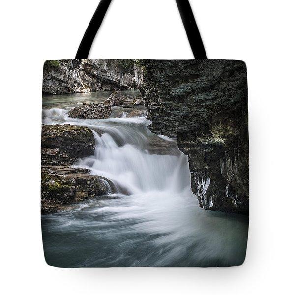 Johnson Canyon Waterfall Tote Bag