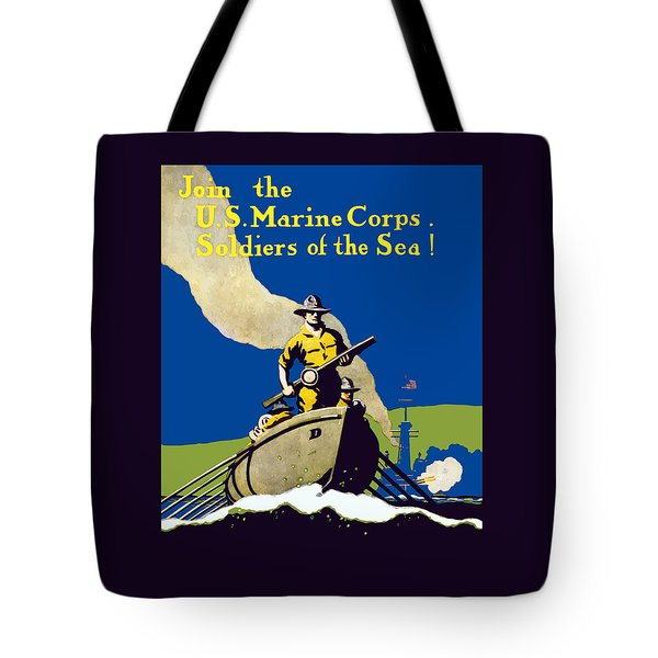 Join The Us Marines Corps Tote Bag by War Is Hell Store