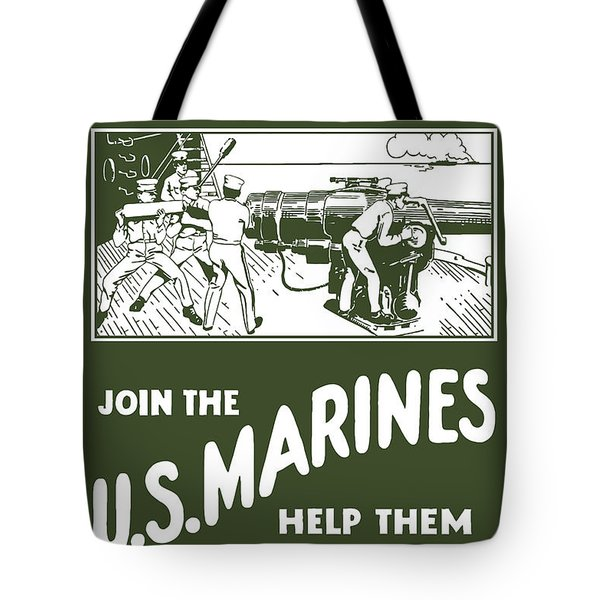 Join The Us Marines Tote Bag
