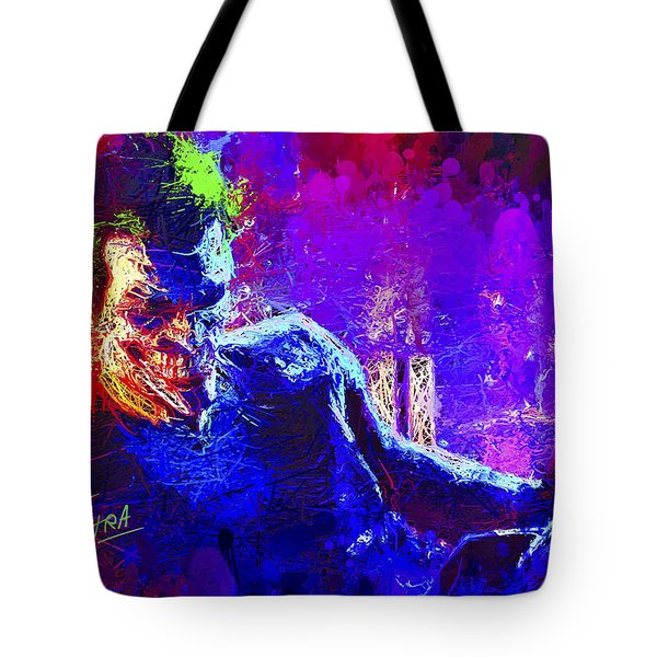 Tote Bag featuring the mixed media Joker's Grin by Al Matra