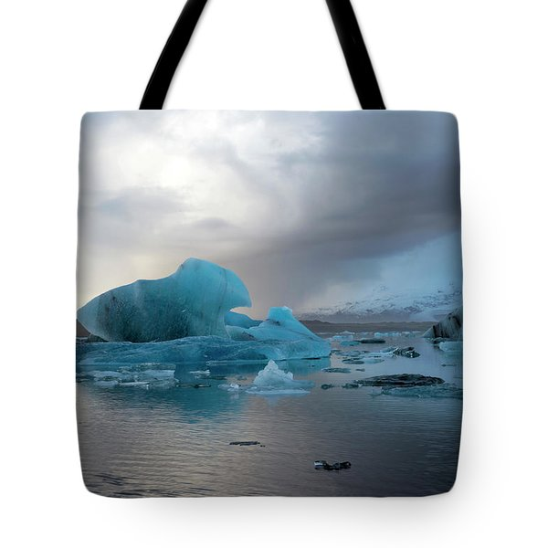 Tote Bag featuring the photograph Jokulsarlon, The Glacier Lagoon, Iceland 4 by Dubi Roman