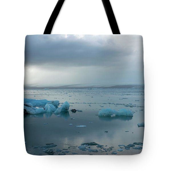 Tote Bag featuring the photograph Jokulsarlon, The Glacier Lagoon, Iceland 1 by Dubi Roman