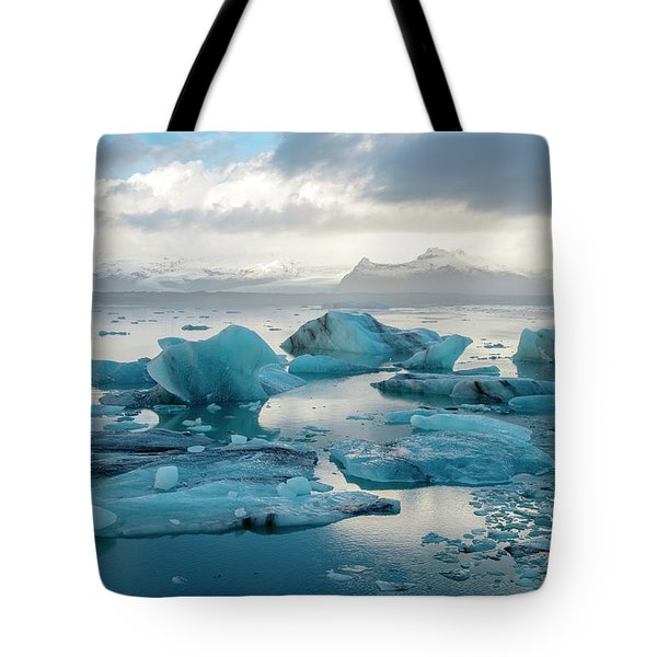 Tote Bag featuring the photograph Jokulsarlon, The Glacier Lagoon, Iceland 6 by Dubi Roman