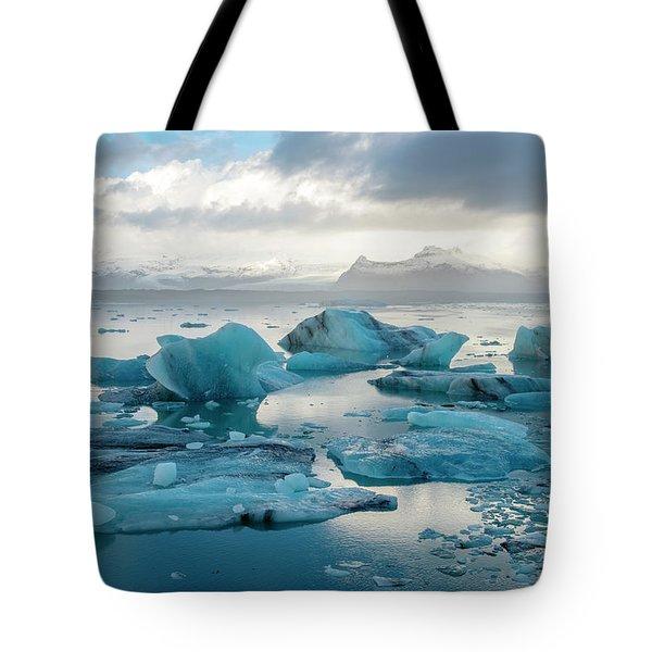 Jokulsarlon, The Glacier Lagoon, Iceland 6 Tote Bag