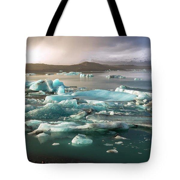 Jokulsarlon The Magnificent Glacier Lagoon, Iceland Tote Bag