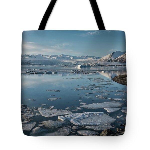 Tote Bag featuring the photograph Jokulsarlon Ice Lagoon - Iceland by Sandra Bronstein