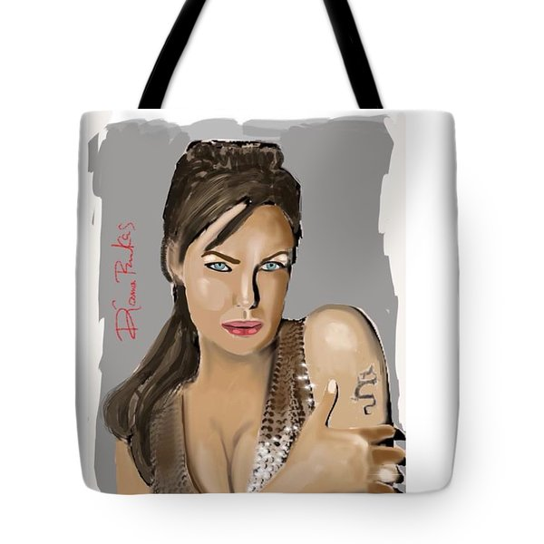 Tote Bag featuring the digital art Jolie by Diana Riukas
