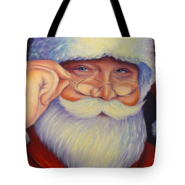 Jolly Old Saint Nick Tote Bag