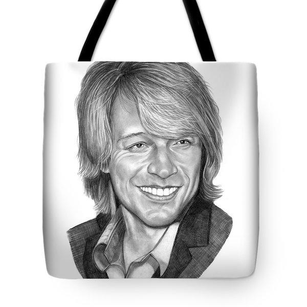 Jon Bon Jovi Tote Bag by Murphy Elliott