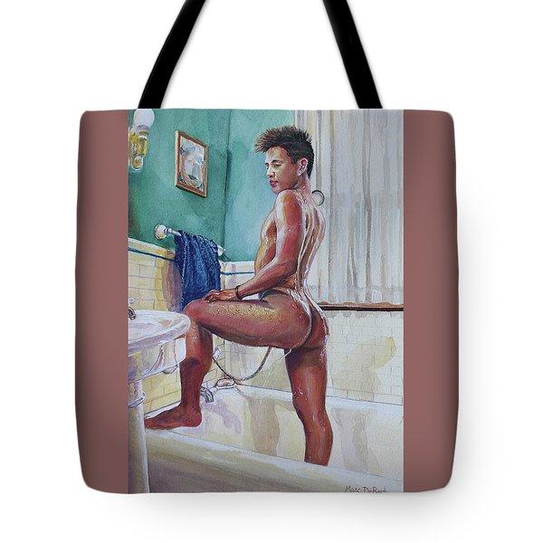 Jon In The Bathtub Tote Bag