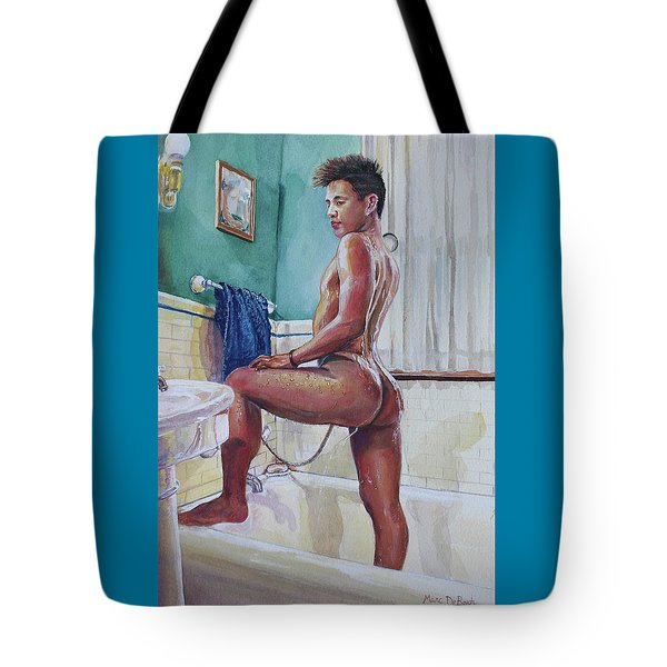 Jon In The Bathtub Tote Bag