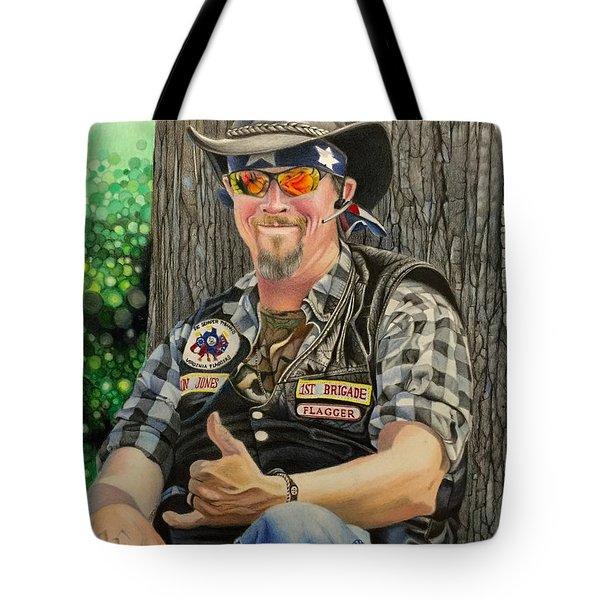 Jon Jones, Army Of Northern Virginia Mechanized Cavalry  Tote Bag