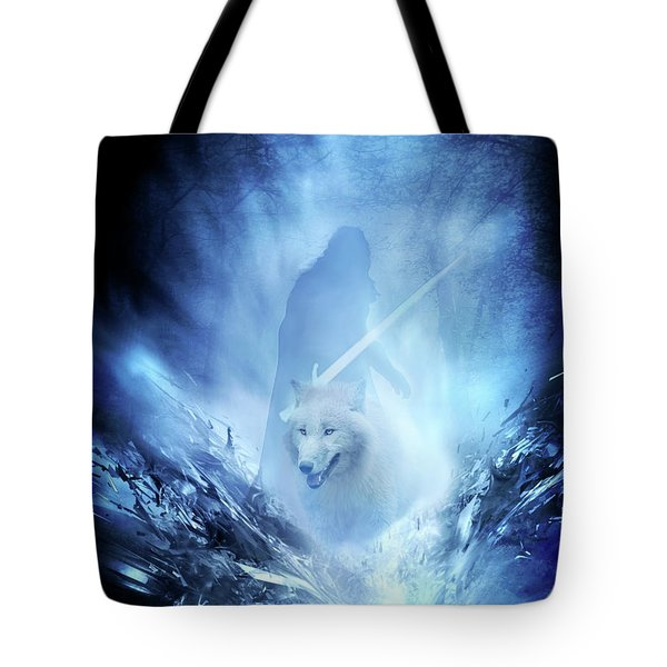 Jon Snow And Ghost - Game Of Thrones Tote Bag