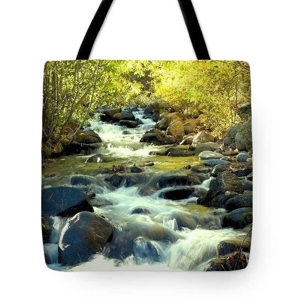 Jones Creek In Fall Tote Bag