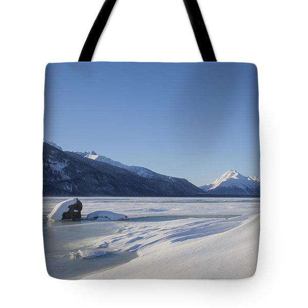Jones Point In Winter Tote Bag