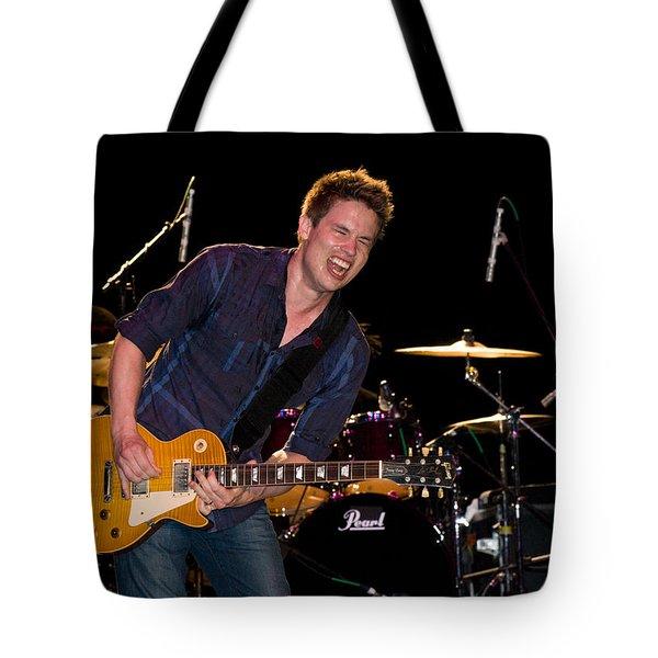 Jonny Lang Rocks His 1958 Les Paul Gibson Guitar Tote Bag