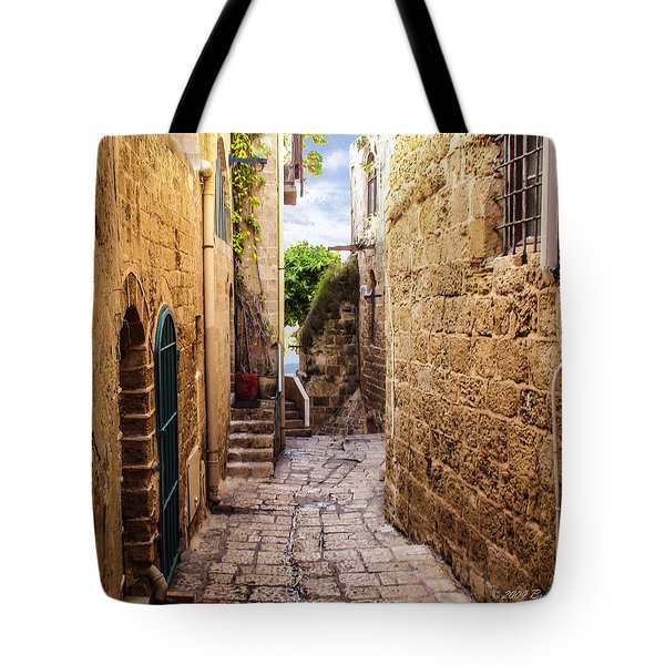 Joppa Israel Passageway Tote Bag