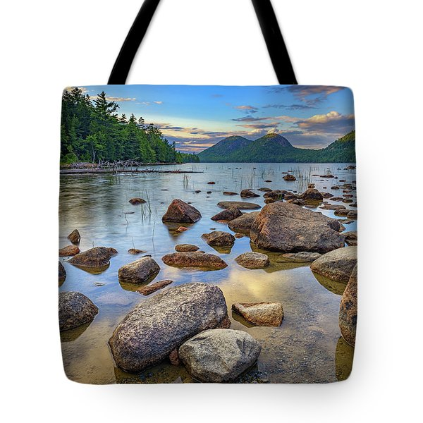 Jordan Pond And The Bubbles Tote Bag by Rick Berk