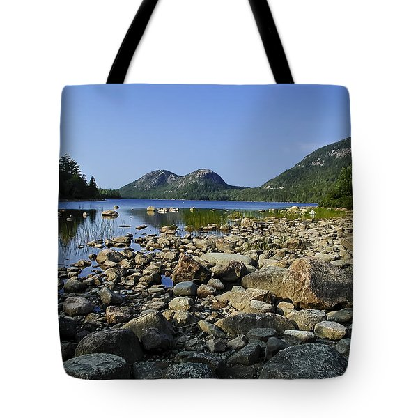 Tote Bag featuring the photograph Jordan Pond No.1 by Mark Myhaver