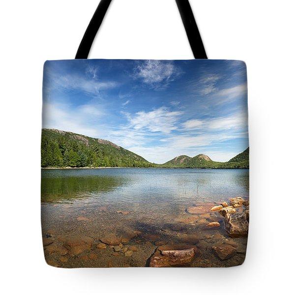 Jordan Pond Panorama Tote Bag