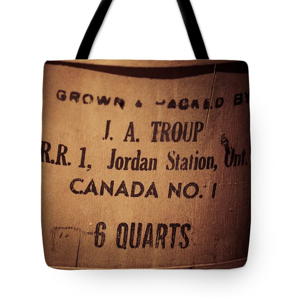 Jordan Station Tote Bag by Chris Bordeleau