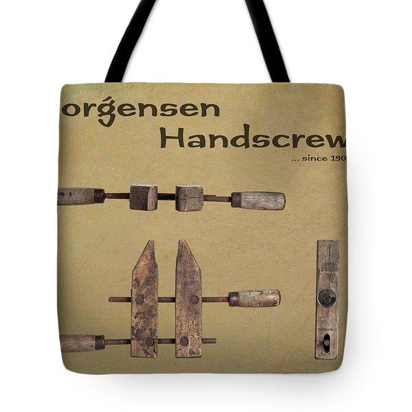 Tote Bag featuring the photograph Jorgensen Handscrew by Tom Mc Nemar