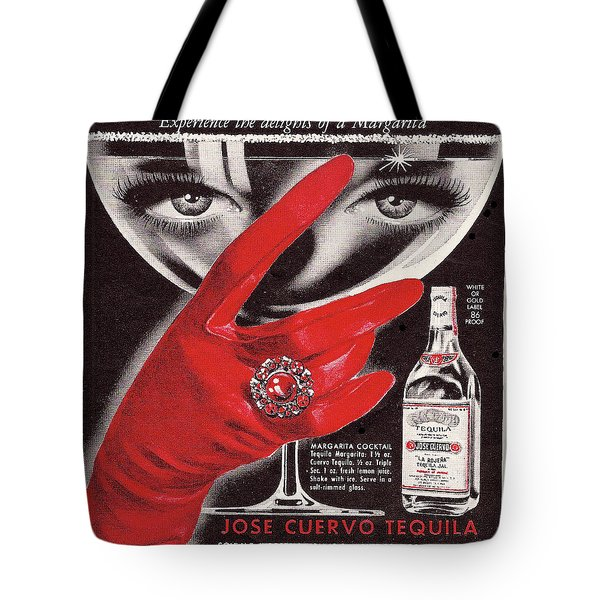 Tote Bag featuring the digital art Jose Cuervo Tequila Experience The Delights Of A Margarita by Reinvintaged