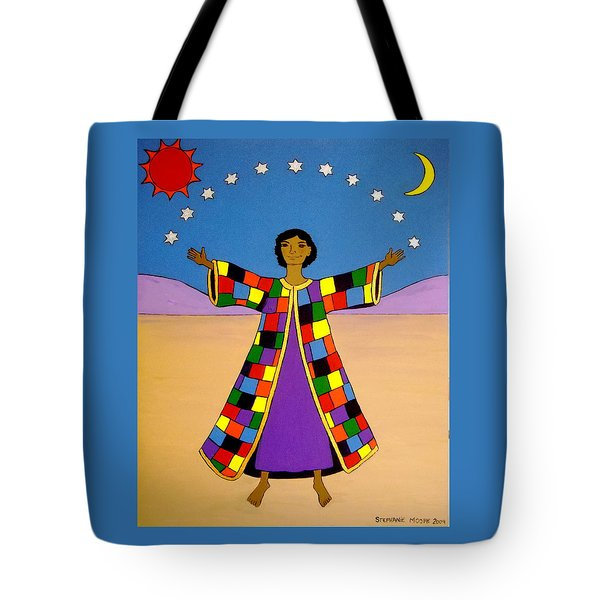 Joseph And His Coat Of Many Colours Tote Bag by Stephanie Moore