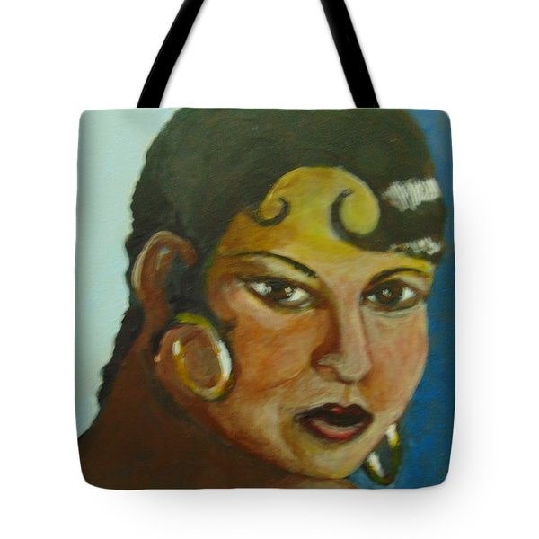 Tote Bag featuring the painting Josephine Baker by Saundra Johnson