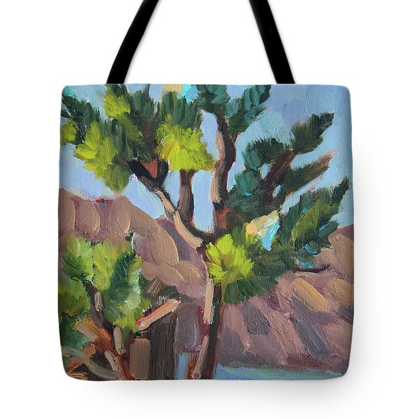 Tote Bag featuring the painting Joshua At Keys Ranch by Diane McClary