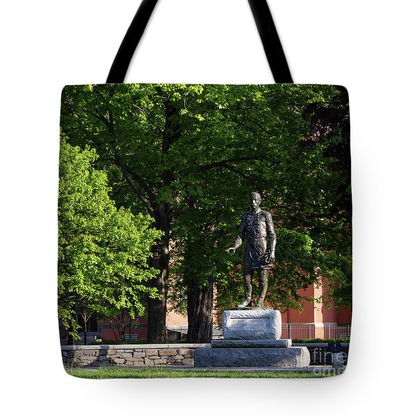 Joshua Lawrence Chamberlain Statue, Brunswick, Maine #0013 Tote Bag