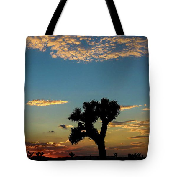 Tote Bag featuring the photograph Joshua Sunset by T A Davies